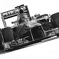 Lewis Hamilton Print by James Wing