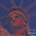 Liberty in Red Poster by Stephen Cheek II
