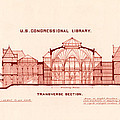 Library of Congress Design 1877 Print by Mountain Dreams