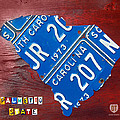 License Plate Map of South Carolina by Design Turnpike Print by Design Turnpike