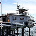 Lifeguard Headquarters On The Municipal Wharf At Santa Cruz Beach Boardwalk California 5D23828 Poster by Wingsdomain Art and Photography