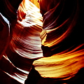 Light From Above - Canyon Abstract Poster by Aidan Moran