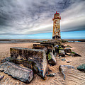 Lighthouse at Talacre  Print by Adrian Evans