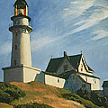 Lighthouse at Two Lights Print by Edward Hopper