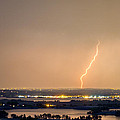 Lightning Striking Over Coot Lake and Boulder Reservoir Poster by James BO  Insogna