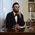 Lincoln at his Desk 2 Print by Ray Downing