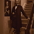 Lincoln Descending Staircase Poster by Ray Downing