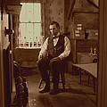 Lincoln in the Attic Print by Ray Downing