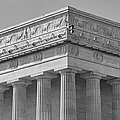 Lincoln Memorial Columns BW Print by Susan Candelario