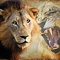 LION PROFILE Poster by RONEL BRODERICK