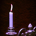 Lit Candle Poster by Christopher and Amanda Elwell