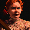 Lizzie Bordon Took An Ax - Painterly - Black Print by Wingsdomain Art and Photography