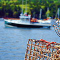 Lobster Trap in Maine Print by Olivier Le Queinec