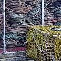 Lobster Traps and Ropes Poster by Stuart Litoff
