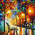 LONELINESS OF AUTUMN Poster by Leonid Afremov