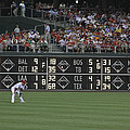 Lonely in Center Field Poster by Dave Hall