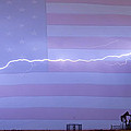 Long Lightning Bolt Across American Oil Well Country Sky Print by James BO  Insogna