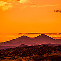 Longs Peak smoke and sunset Print by Rebecca Adams