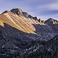 Longs Peak Sunset Print by Aaron Spong