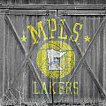 LOS ANGELES MILWAUKEE LAKERS Poster by Joe Hamilton