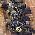 Lotus 72 Canadian GP 1972 Emerson Fittipaldi  Poster by Yuriy  Shevchuk