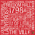 Louisville College Colors Subway Art Poster by Replay Photos