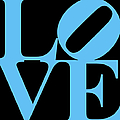 LOVE 20130707 Blue Black Poster by Wingsdomain Art and Photography
