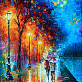 LOVE BY THE LAKE Poster by Leonid Afremov