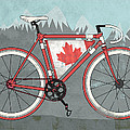 Love Canada Bike Poster by Andy Scullion