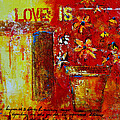 LOVE IS ABSTRACT Poster by Patricia Awapara