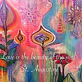 Love is the beauty Print by Robin Mead