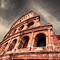 Low angle view of the roman Colosseum Print by Stefano Senise