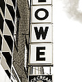 Lowe Drug Store Sign BW Print by Andee Photography