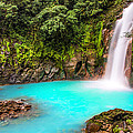 Lower Rio Celeste Waterfall Print by Andres Leon