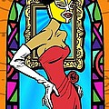 Lucky Lucy the Luchador Print by Renee Reeser Zelnick