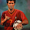 Luis Figo Print by Paul  Meijering