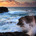 Lumahai Sea Explosion Poster by Mike  Dawson