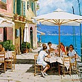 Lunch in Portofino Poster by Michael Swanson