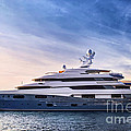 Luxury yacht Print by Elena Elisseeva