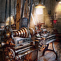 Machinist - Fire Department Lathe Print by Mike Savad