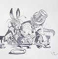 Mad Hatter 1865 Tea Party  Print by J D  Fields