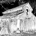 Madeline s Barn - Black and White Poster by Nina-Rosa Duddy