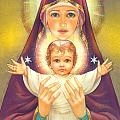 Madonna and Baby Jesus Poster by Zorina Baldescu