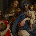 Madonna and Child with Saints John the Baptist with Mary Magdalene and Anne Print by Guiseppe Cesari