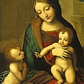 Madonna and Child with the Infant Saint John Poster by Antonio Allegri Correggio