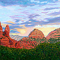 Madonna and Nuns - Sedona Print by Steve Simon