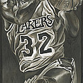 Magic Johnson - Legends Series Poster by David Courson