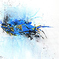 Magical Blue 1- abstract art Print by Ismeta Gruenwald