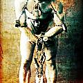 Magician Harry Houdini in Chains   Poster by The  Vault - Jennifer Rondinelli Reilly