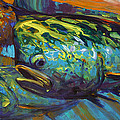 Mahi At Sunset Poster by Mike Savlen